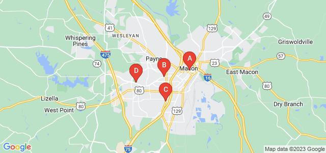 Google static map for Bibb County