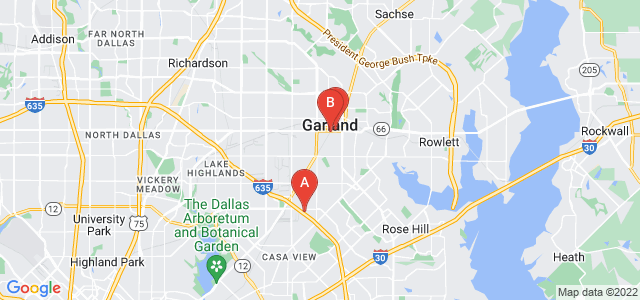 Google static map for Garland