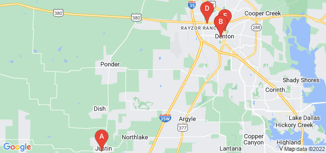 Google static map for Denton County