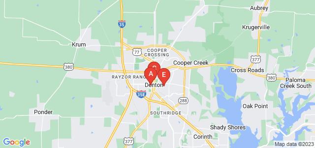 Google static map for Denton County