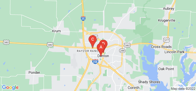 Google static map for Denton