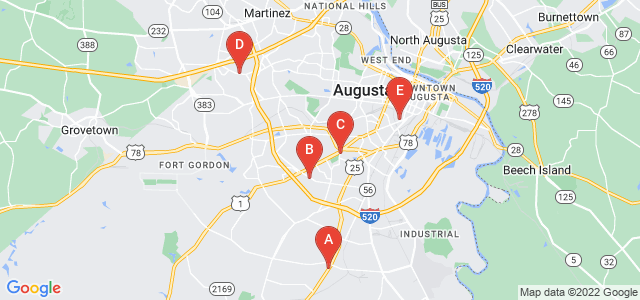 Google static map for Augusta