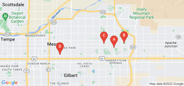 Google static map for Mesa