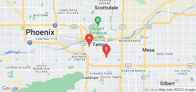 Google static map for Tempe