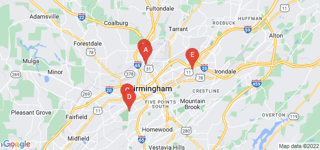 Google static map for Birmingham