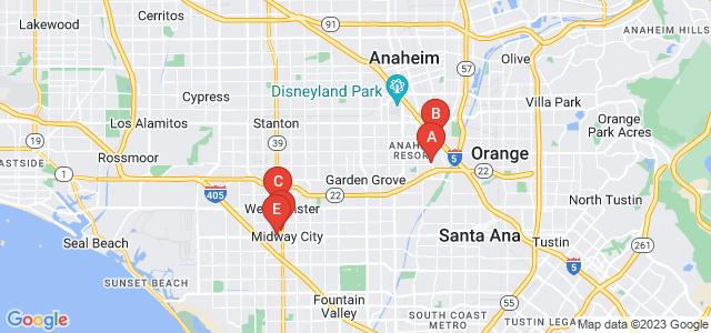 Google static map for Orange County