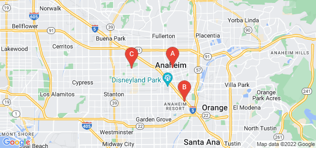 Google static map for Anaheim