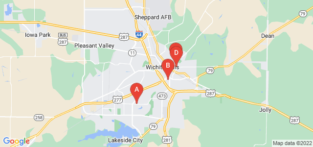 Google static map for Wichita Falls