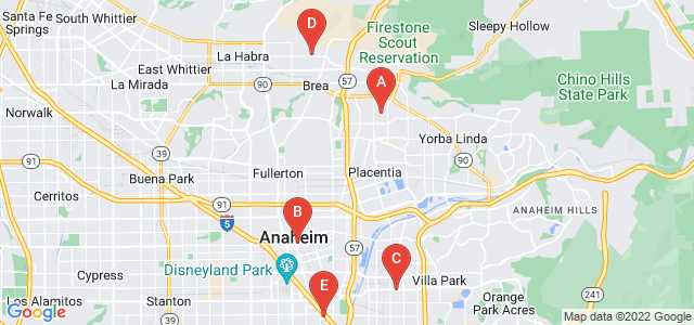 Google static map for Orange County
