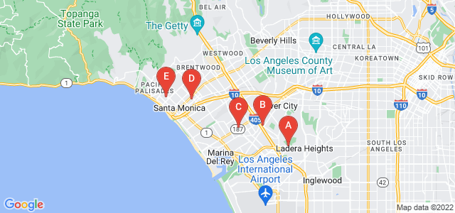 Google static map for Santa Monica