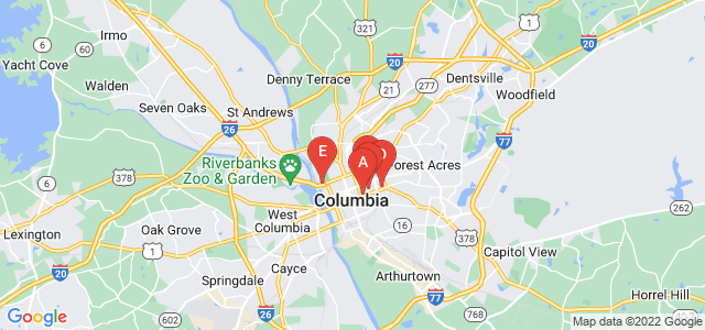Google static map for Columbia