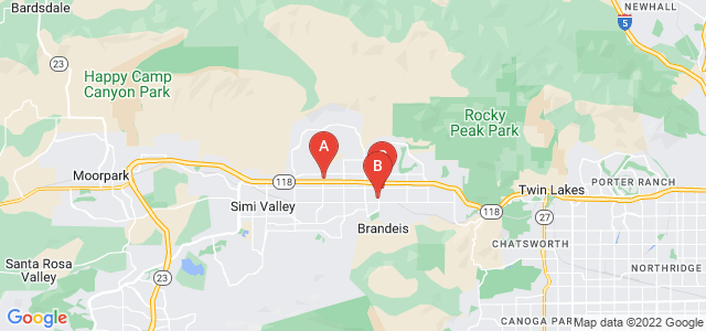 Google static map for Simi Valley