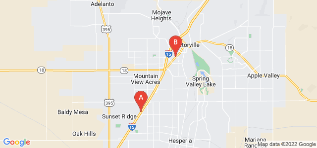 Google static map for Victorville