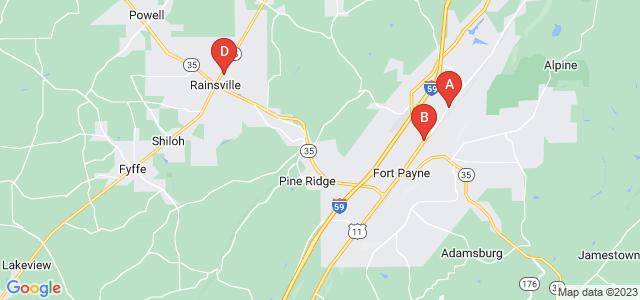 Google static map for Dekalb County