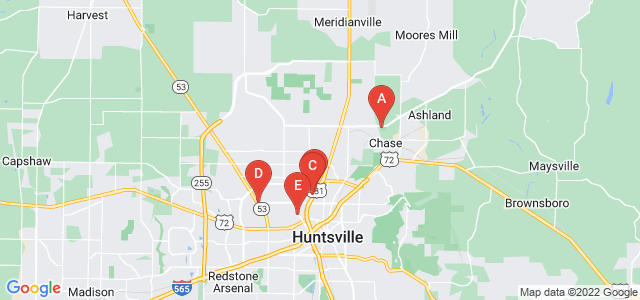 Google static map for Huntsville