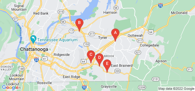Google static map for Chattanooga
