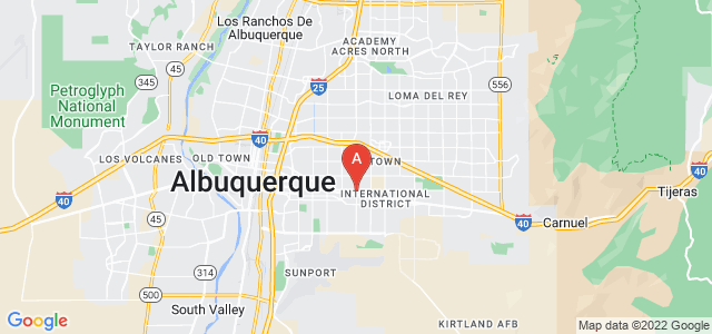 Google static map for Albuquerque
