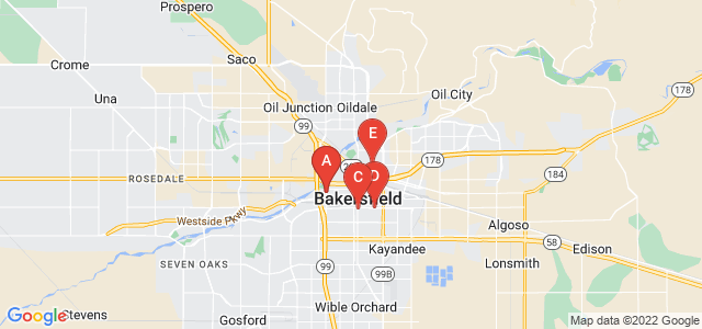 Google static map for Bakersfield