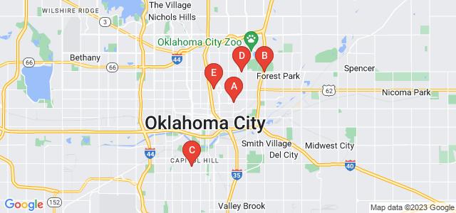 Google static map for Oklahoma City