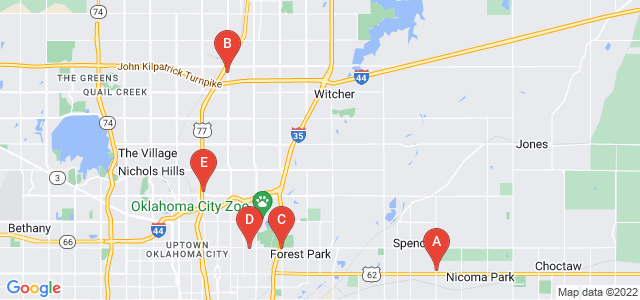 Google static map for Oklahoma City