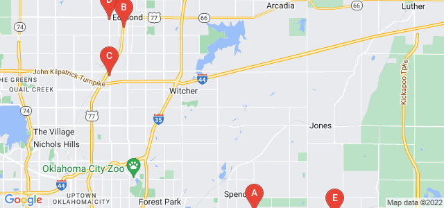 Google static map for Oklahoma County