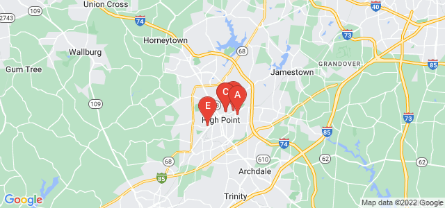 Google static map for High Point