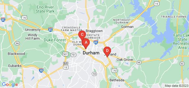 Google static map for Durham