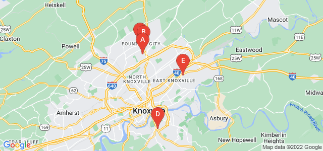 Google static map for Knox County