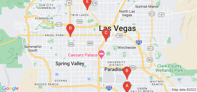 Google static map for Las Vegas