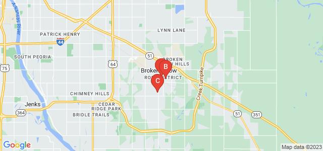 Google static map for Broken Arrow