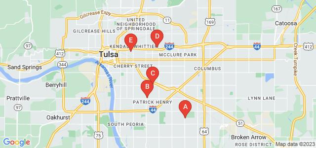 Google static map for Tulsa