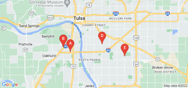 Google static map for Tulsa