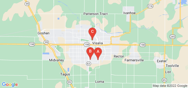 Google static map for Visalia