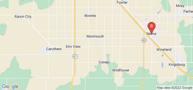 Google static map for Fresno County