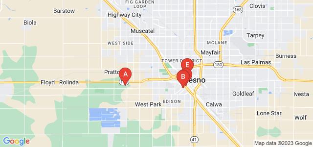 Google static map for Fresno