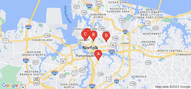 Google static map for Norfolk