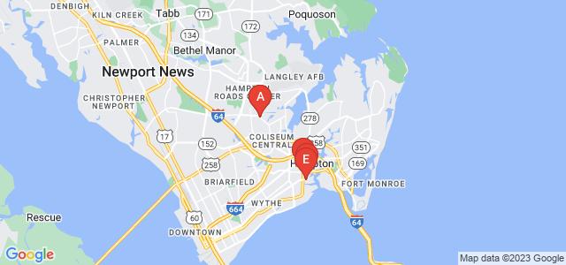 Google static map for Hampton