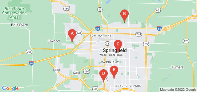 Google static map for Springfield