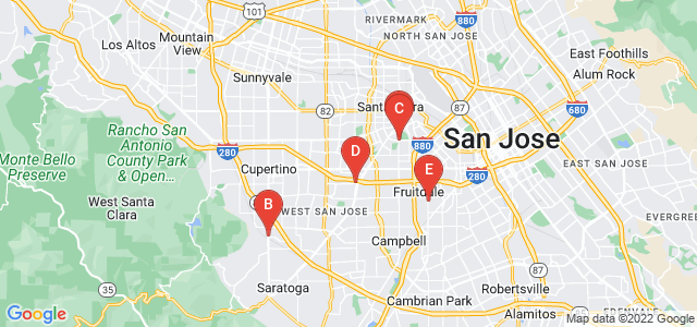 Google static map for San Jose