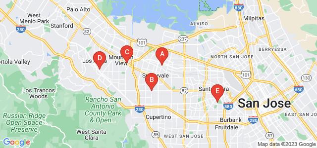Google static map for Santa Clara County