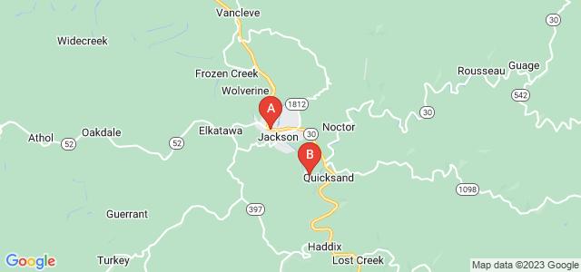 Google static map for Breathitt County
