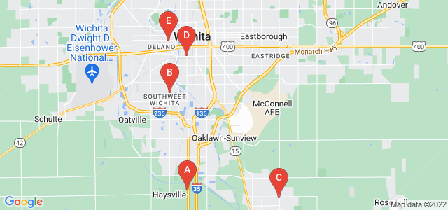 Google static map for Sedgwick County