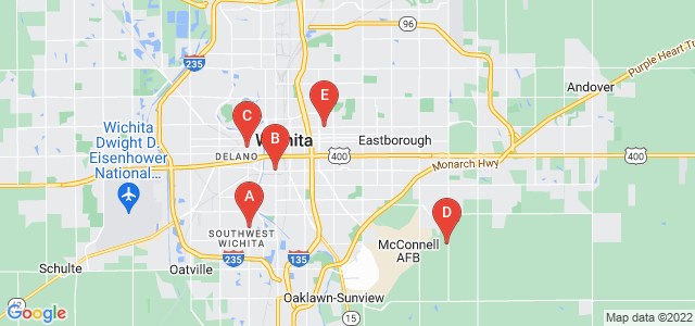Google static map for Wichita