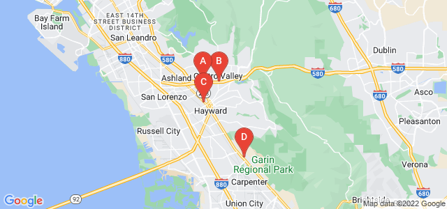 Google static map for Hayward
