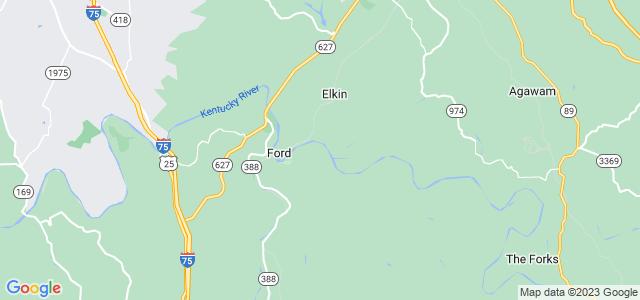 Google static map for Kentucky