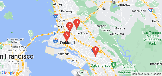 Google static map for Oakland