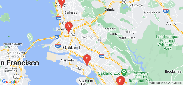 Google static map for Alameda County