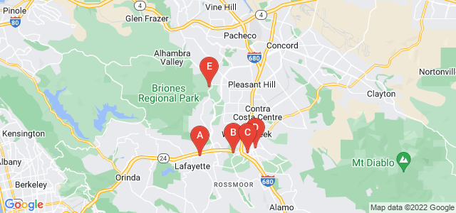 Google static map for Contra Costa County