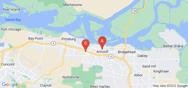 Google static map for Antioch