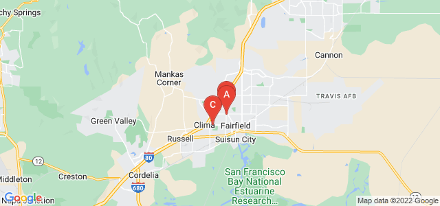 Google static map for Fairfield